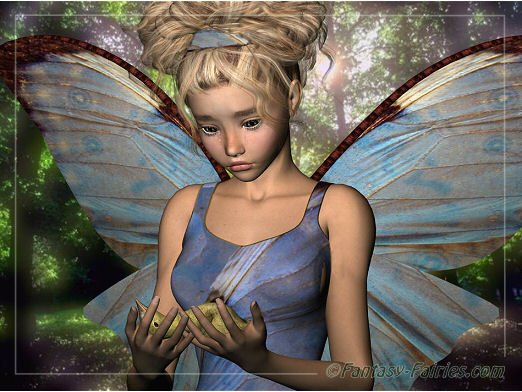 sad fairy with injured bird