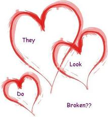 they do look broken hearts