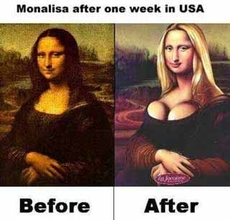 Mona lisa before after