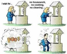 i wish for no cleaning no cooking