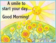 a smile to start your day good morning