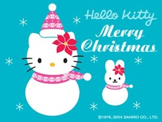 hello kitty merry christmas