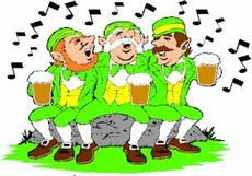 irish people singing and drinking beer