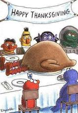 happy thanksgiving sesame street eat big bird