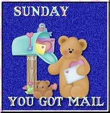 sunday you got mail teddy bear