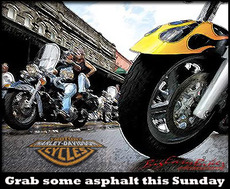 grab some asphalt this sunday harley davidson