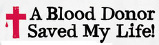 a blood donor saved my life cross
