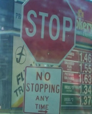stop no stopping any time