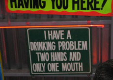 drinking problem - two hands only one mouth