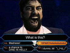 300 sparta who wants to be a millionaire