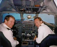 pilots about to crash into airplane