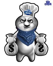 dough boy with money