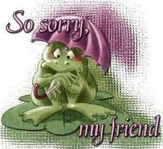 so sorry my friend frog