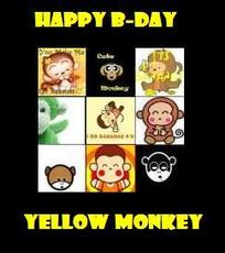 happy birthday yellow monkey