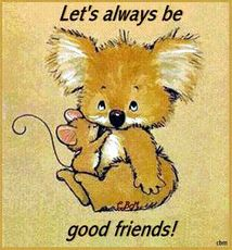 let's always be good friends koala bear mouse