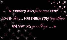 a memory lasts forever