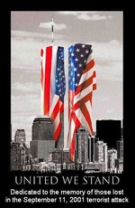 united we stand 9/11 septer 11 2001 terrorist attack