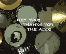 hey you thanks for the add drum set