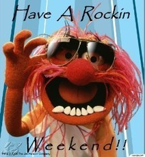 have a rockin weekend - animal muppets