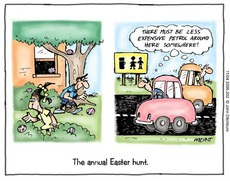 the annual easter hunt