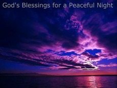 gods blessings for a peaceful night