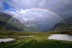 Rainbow Over Logan Pass
